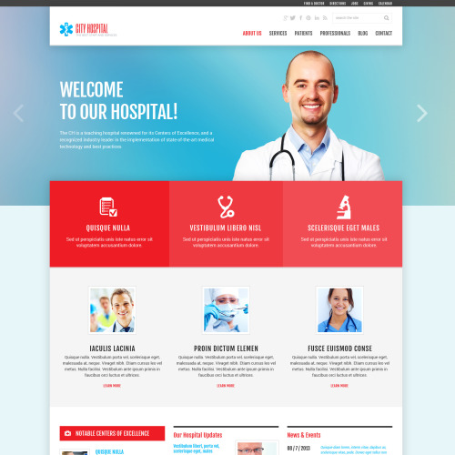 City Hospital - Joomla! Template based on Bootstrap