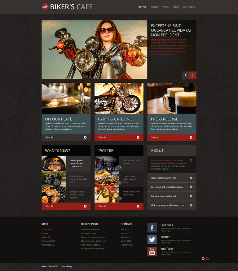 BBQ Restaurant WordPress Theme New Screenshots BIG