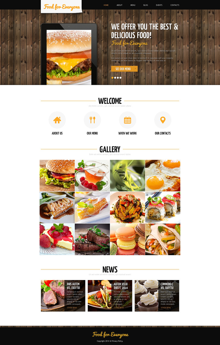 Cafe Responsive Joomla Template New Screenshots BIG