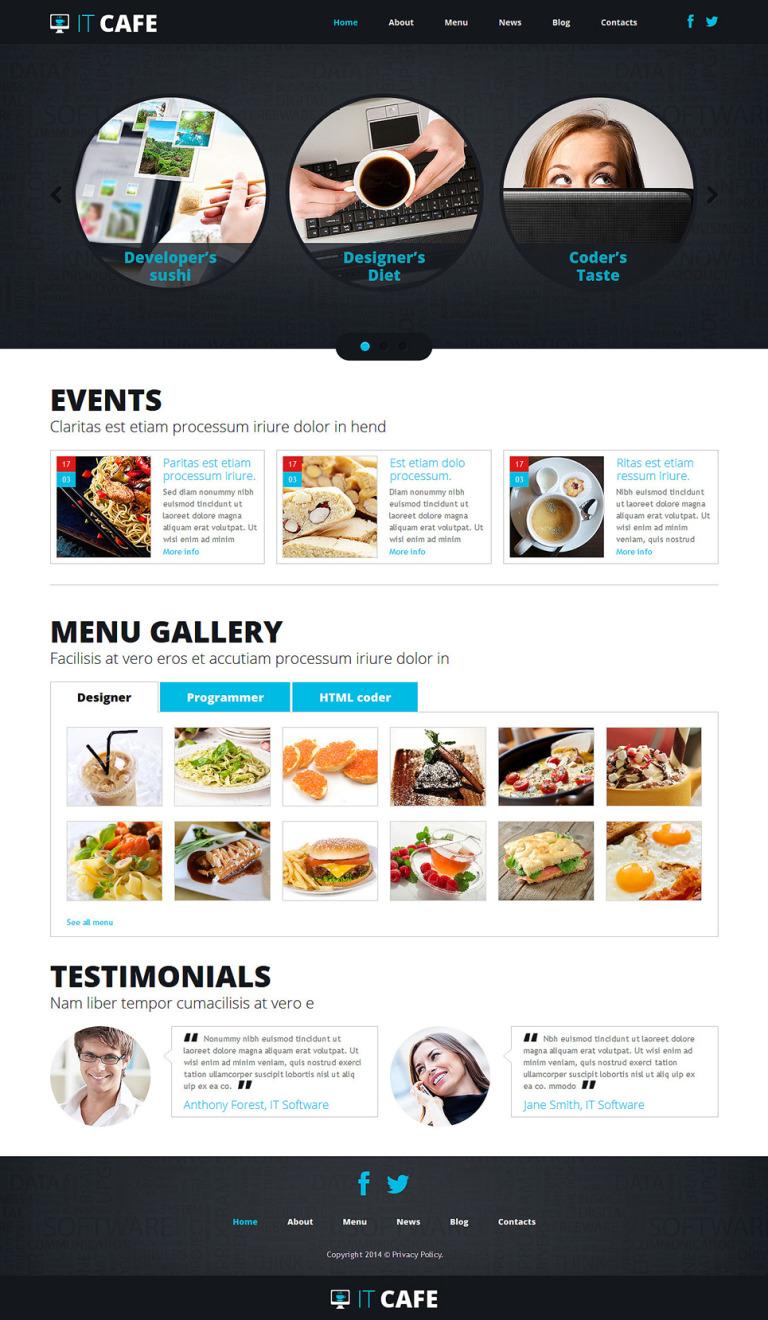 Cafe Responsive Joomla Template New Screenshots BIG