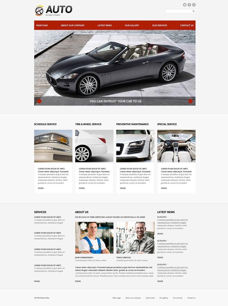 Car Repair Responsive Joomla Template New Screenshots BIG