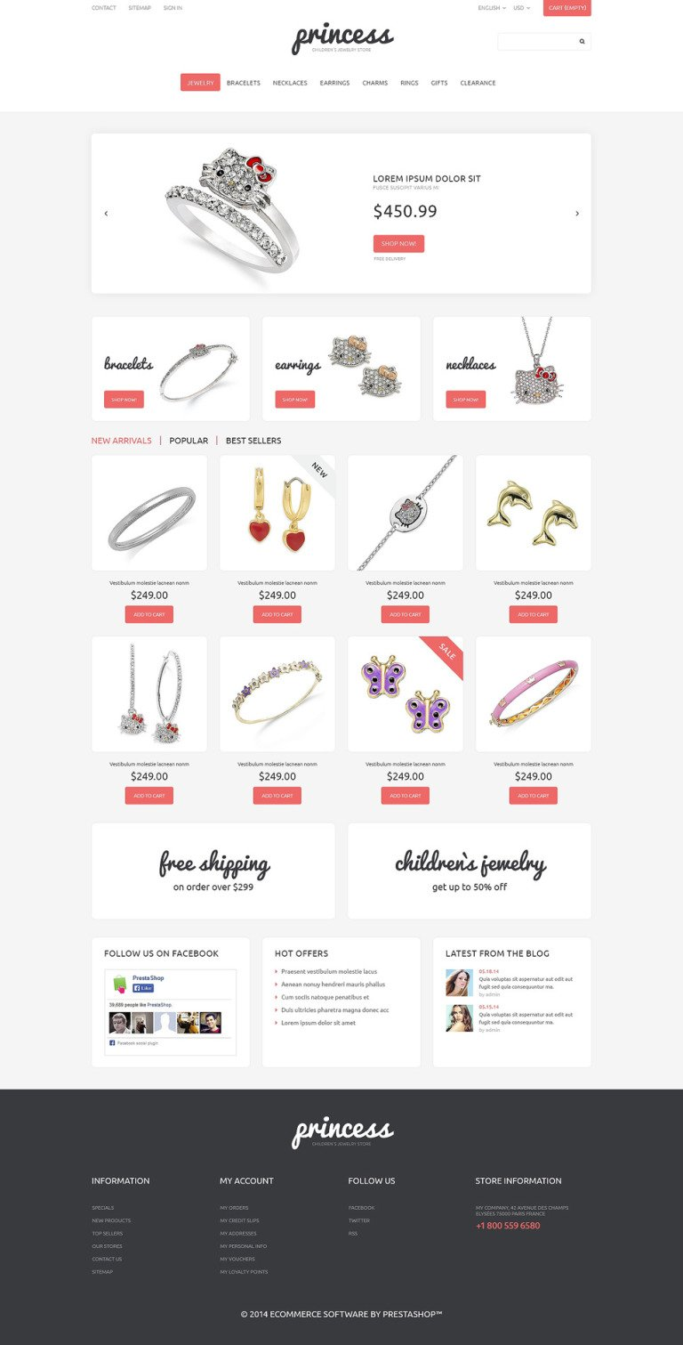 Children's Jewelry PrestaShop Theme New Screenshots BIG