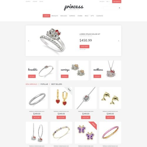 Princess - PrestaShop Template based on Bootstrap