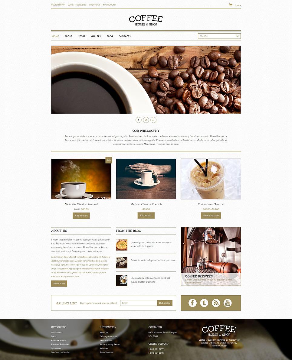Coffee Shop Responsive WooCommerce Theme New Screenshots BIG