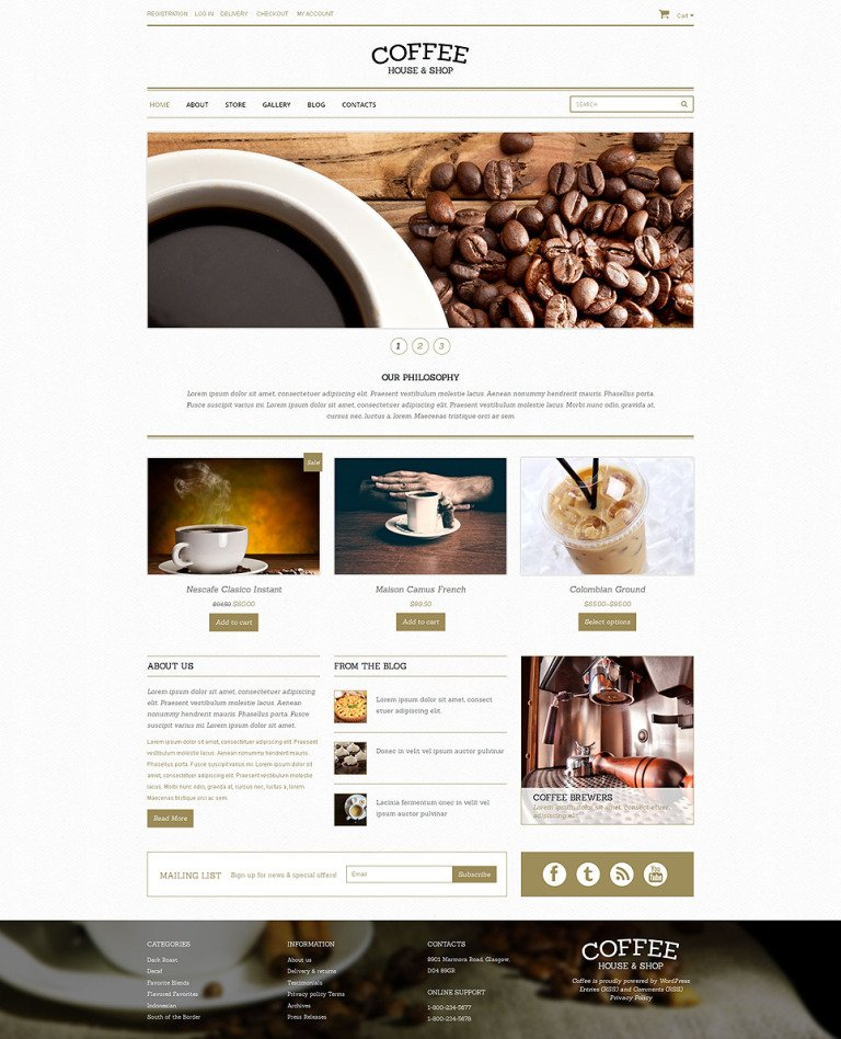 Coffee Shop Responsive WooCommerce Theme New Screenshots BIG
