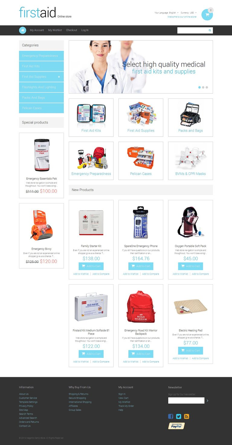 Drug Store Responsive Magento Theme New Screenshots BIG