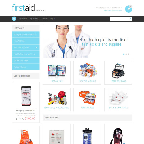 First Aid  - Responsive Magento Template