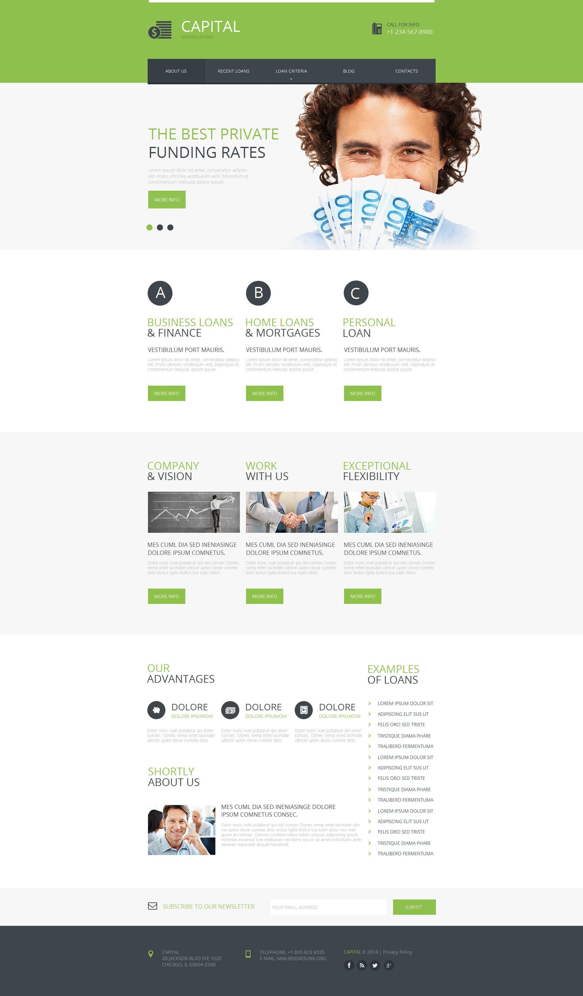 Financial Advisor Moto CMS HTML Template - screenshot