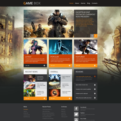 Game Box - HTML5 WordPress Template