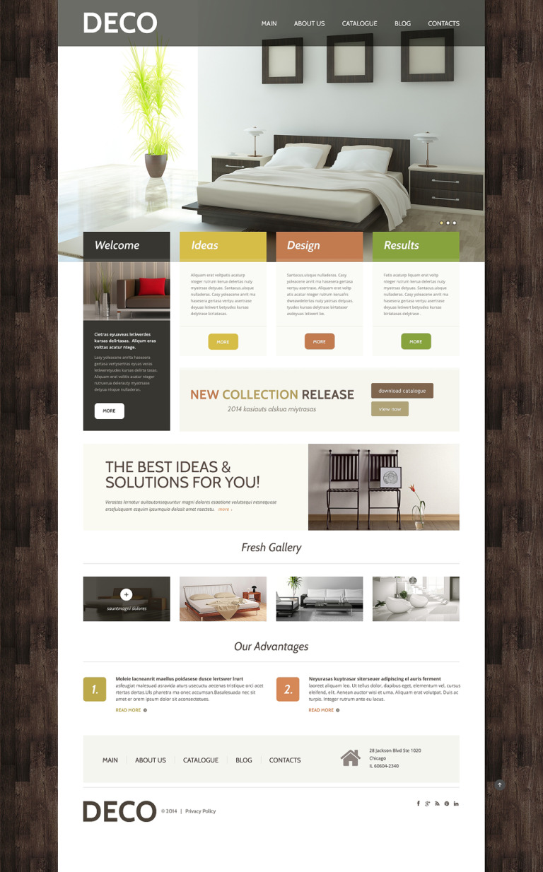 Home Decor Responsive WordPress Theme New Screenshots BIG