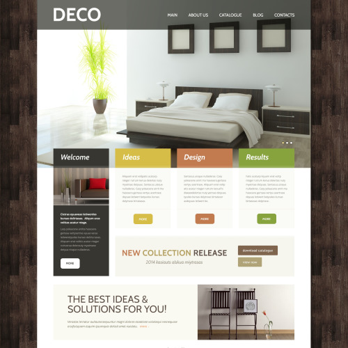Deco - WordPress Template based on Bootstrap