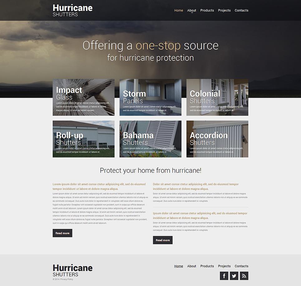 Houses Websites: Home Remodeling Responsive Website Template #48810