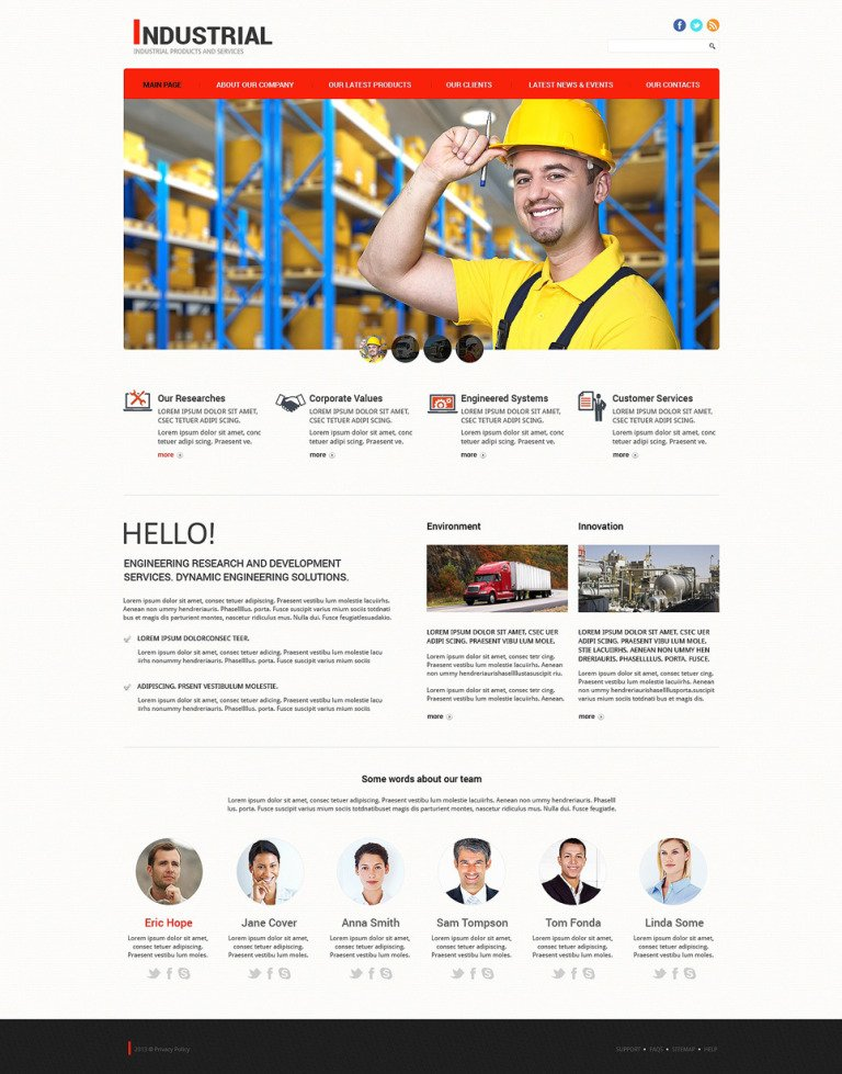 Mining Company Responsive Joomla Template New Screenshots BIG