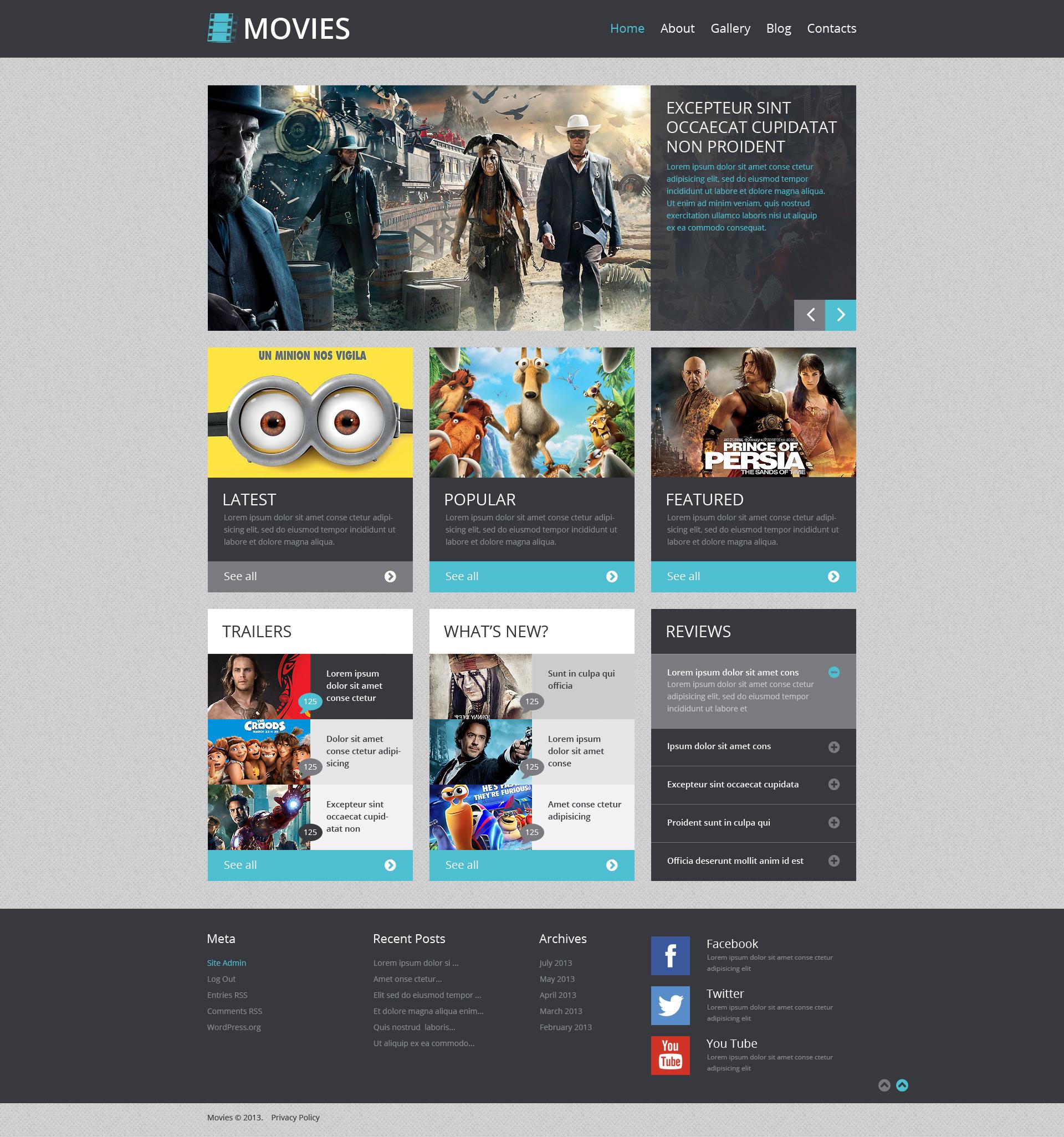 Modello WordPress Responsive #48833 per Un Sito di Musica - screenshot