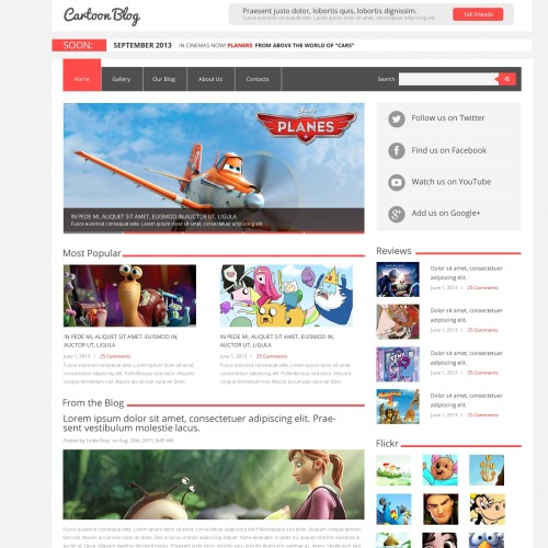 Cartoon Blog - Joomla! Template based on Bootstrap