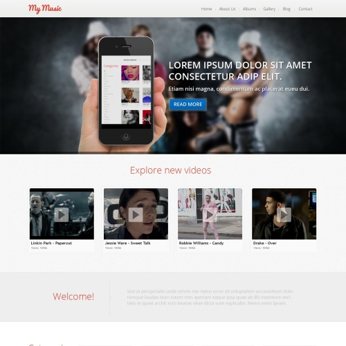 My Music - Joomla! Template based on Bootstrap
