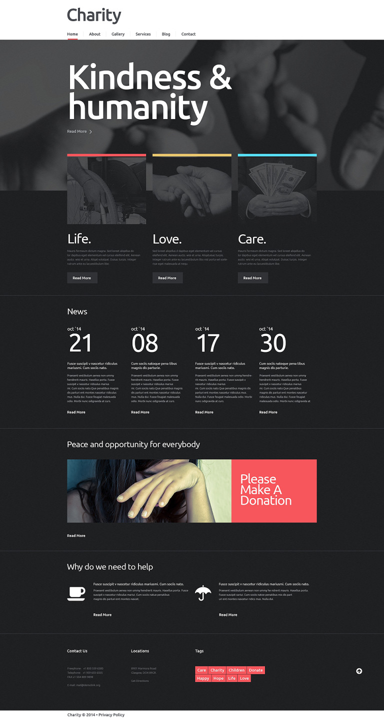 NGO Responsive WordPress Theme New Screenshots BIG