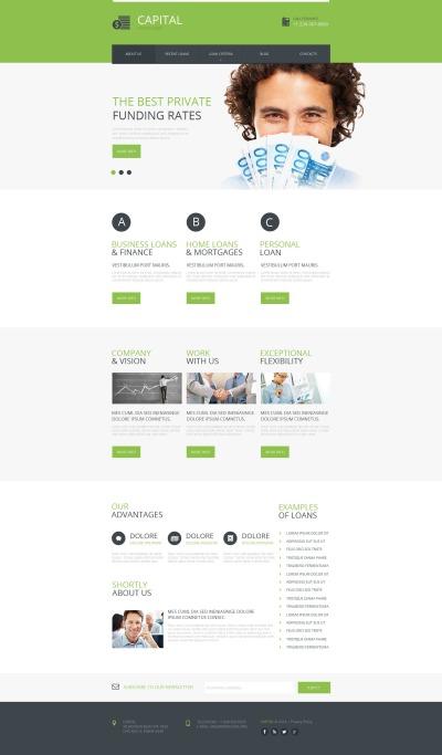 Plantilla Moto CMS HTML #48850 para Sitio de  para Sitio de Asesores financieros