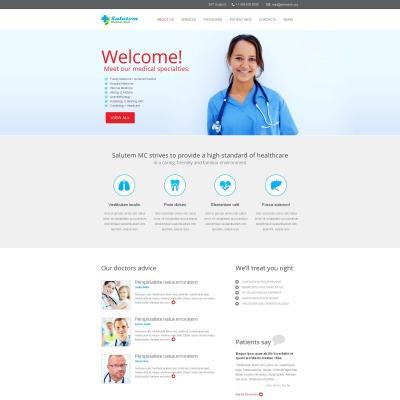 Plantilla Moto CMS HTML #48853 para Sitio de  para Sitio de Medicina