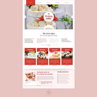 Plantilla Moto CMS HTML #48863 para Sitio de  para Sitio de Pasteles de boda