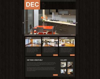 Interior Design Responsive Moto CMS HTML Sablon