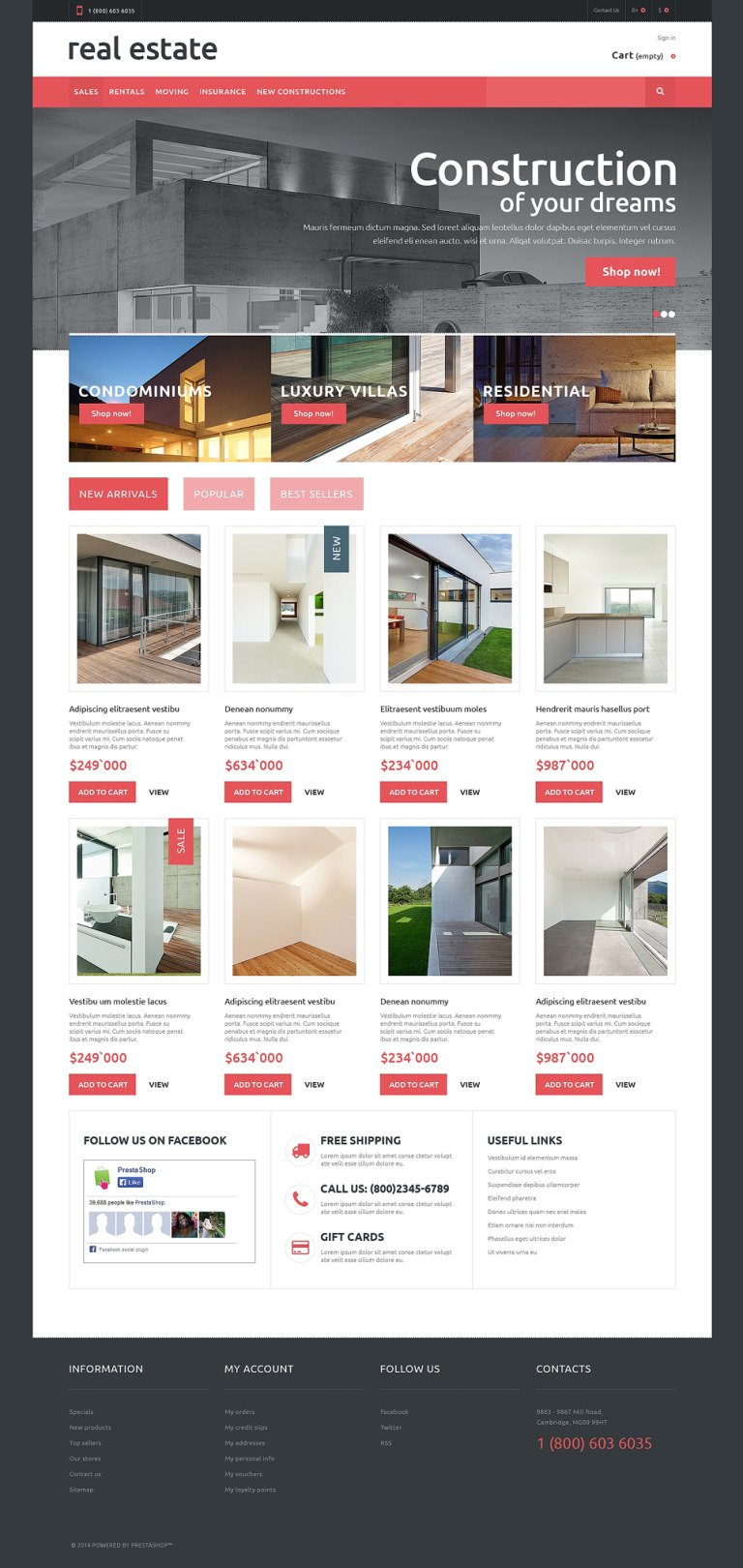 Real Estate PrestaShop Theme New Screenshots BIG