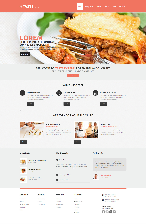 Responsive Kafe ve Restoran Wordpress #48840 - Ekran resmi