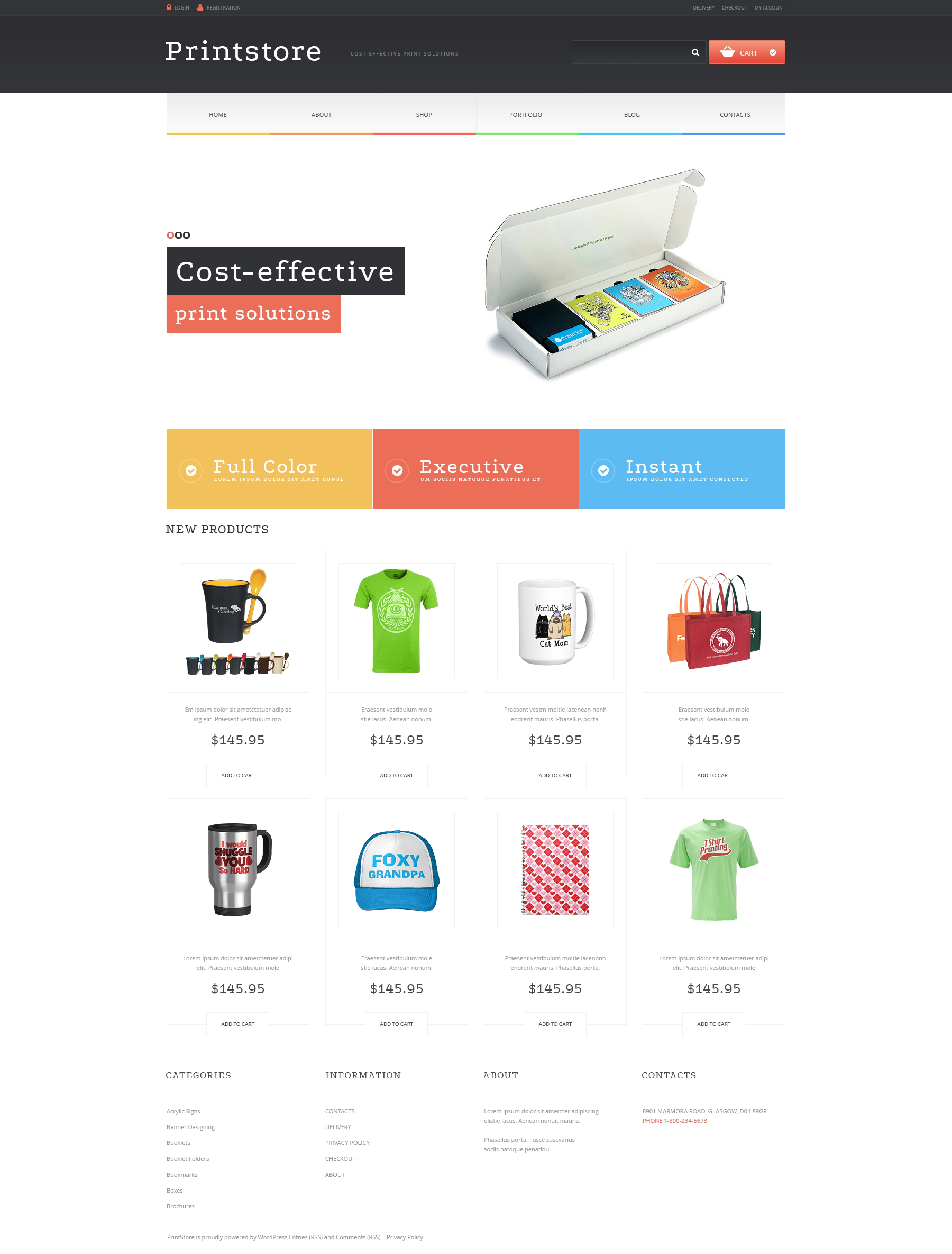 Responsives WooCommerce Theme für Druckerei #48827