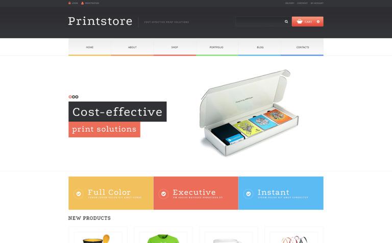 WooCommerce Theme #48827 für Druckerei
