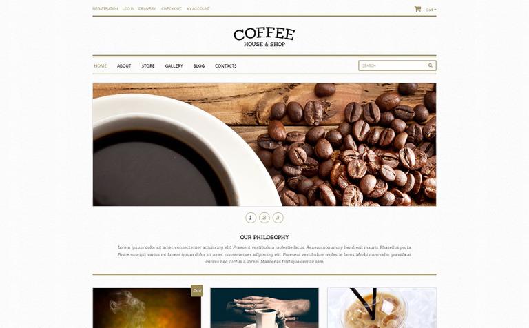 WooCommerce Theme #48893 für Kaffeeshop