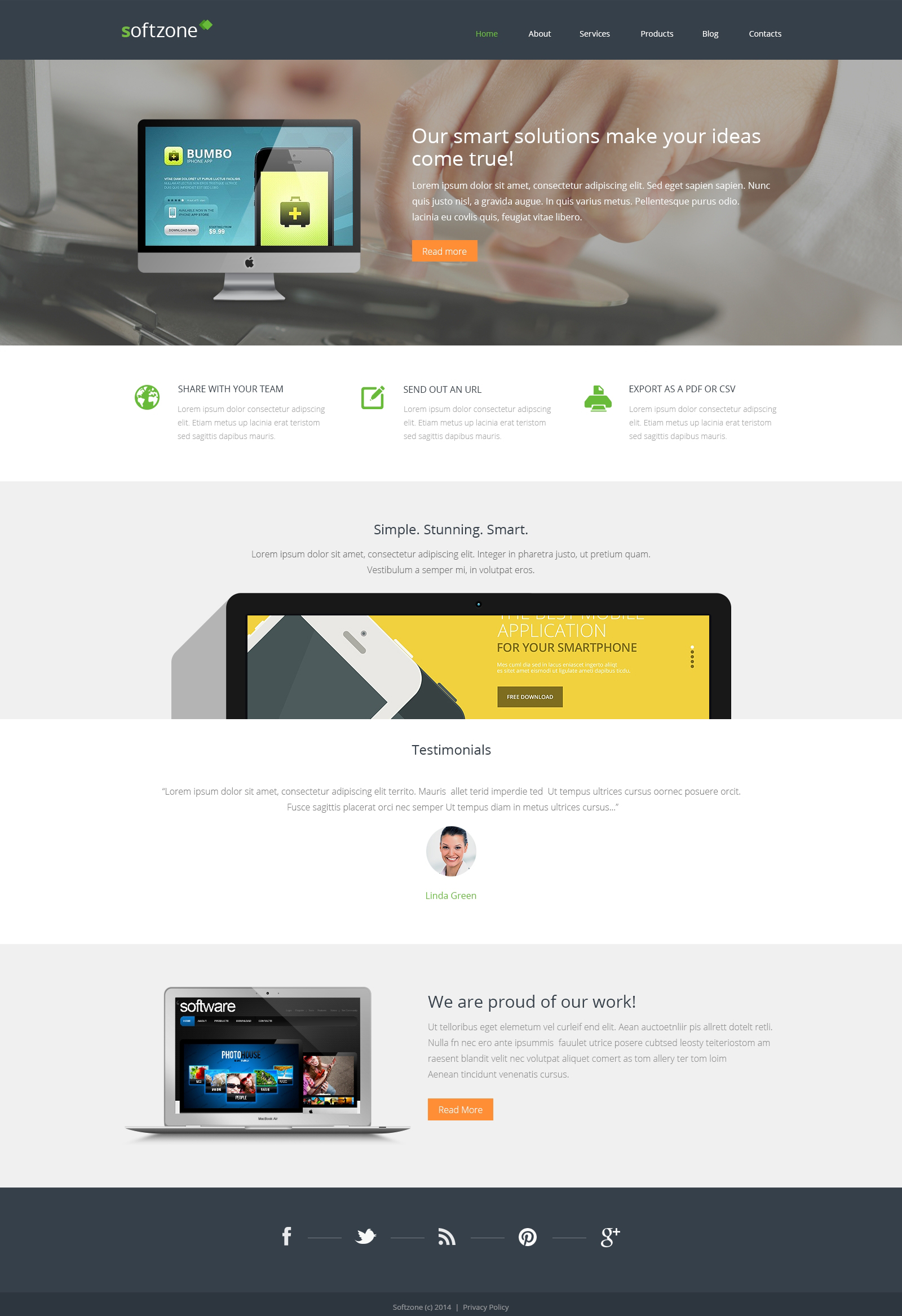 Responsives WordPress Theme für Web Entwicklung #48831 - Screenshot