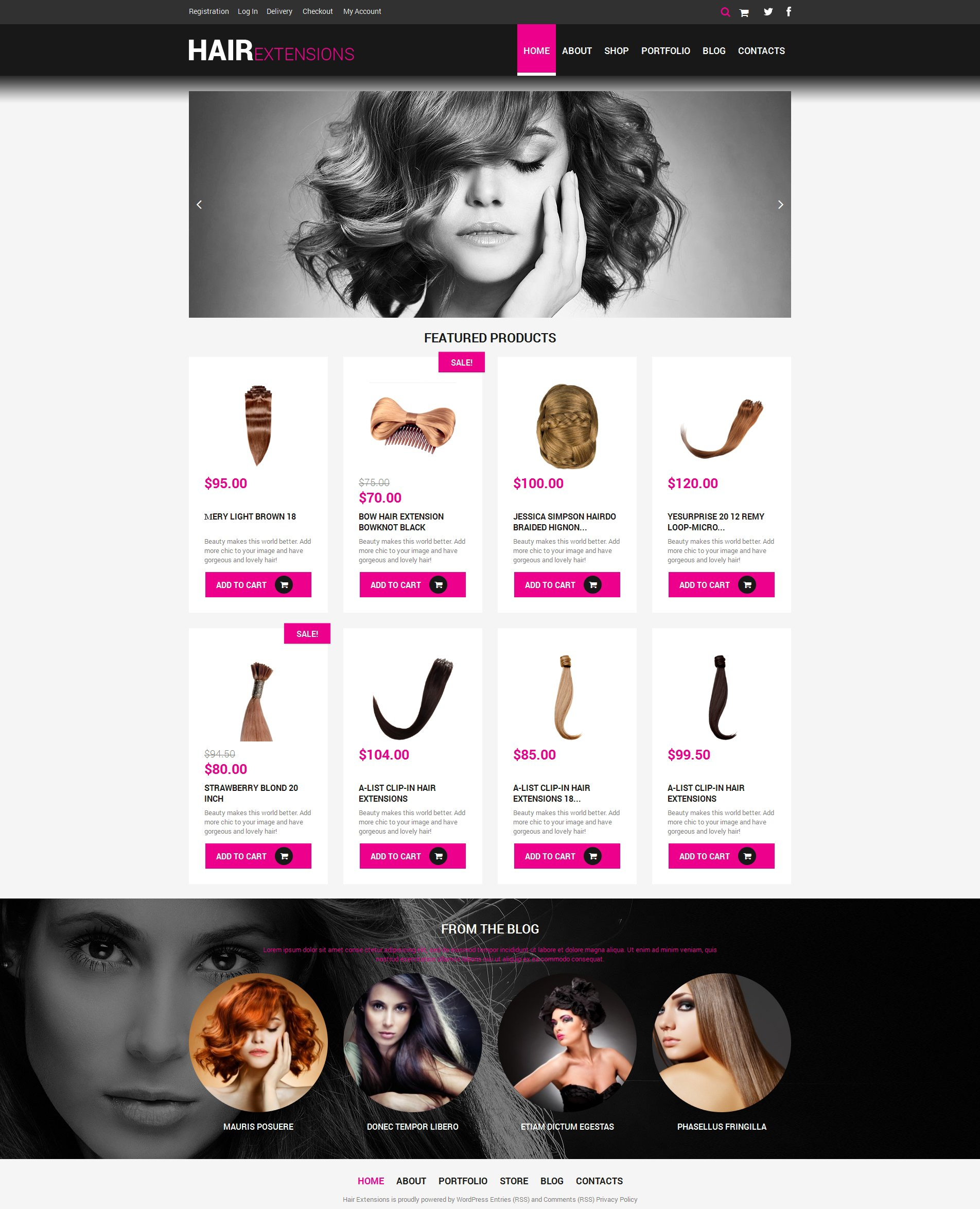 Responsywny motyw WooCommerce #48894 na temat: salon fryzjerski