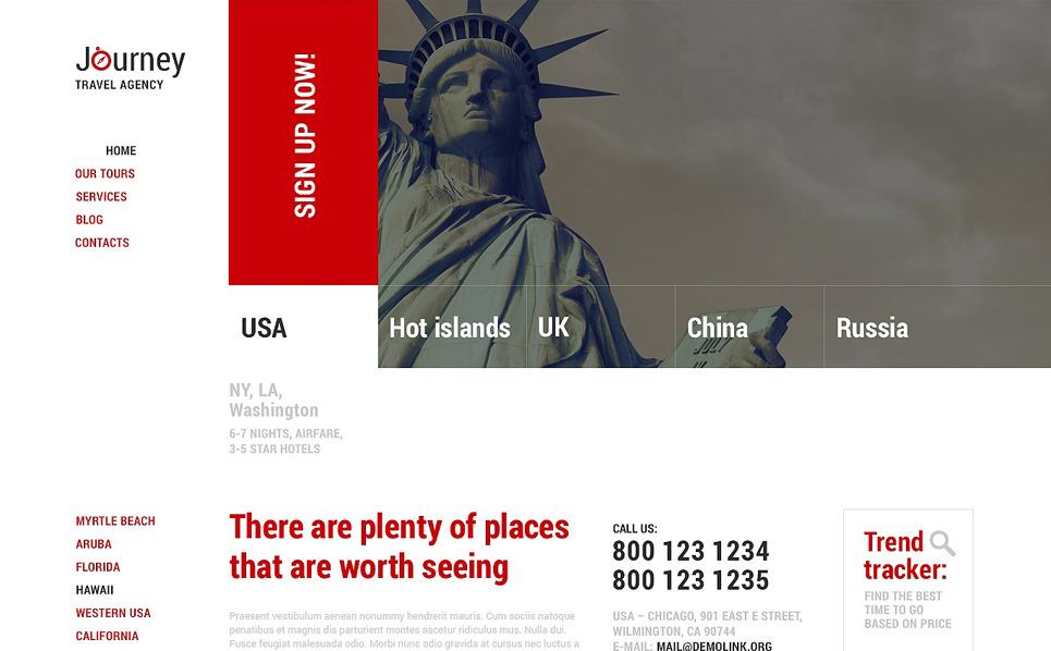 Responsywny motyw WordPress #48842 na temat: biuro podróży i turystyki New Screenshots BIG