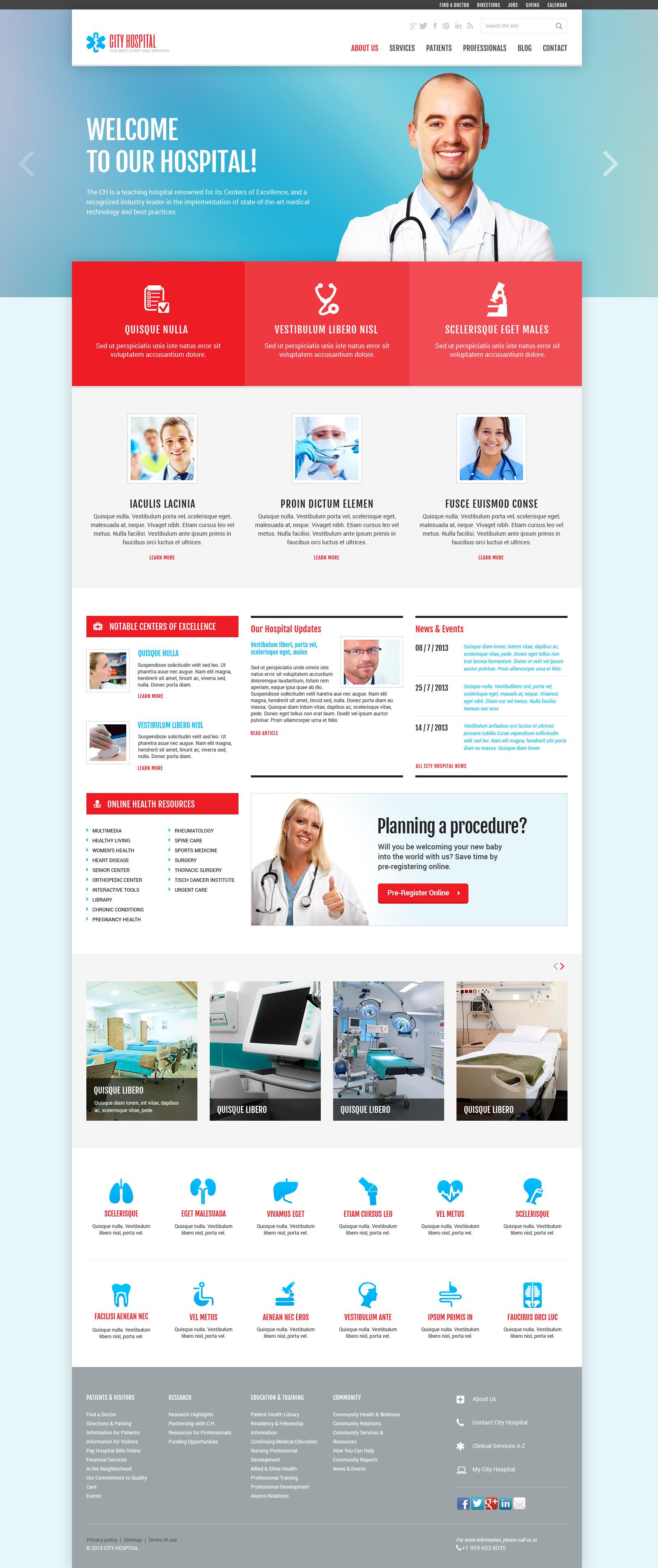 Responsywny szablon Joomla #48887 na temat: ambulans