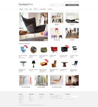 Responsywny szablon Shopify #48825 na temat: meble
