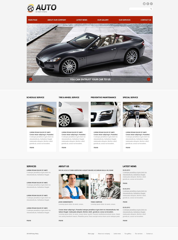 Responzivní Joomla šablona na téma Autoservis #48883