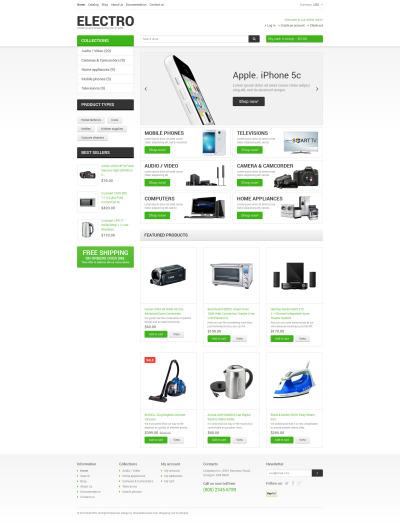 Electronics Store Responsive Shopify Sablon