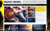 Reszponzív Music Fan Board WordPress sablon New Screenshots BIG