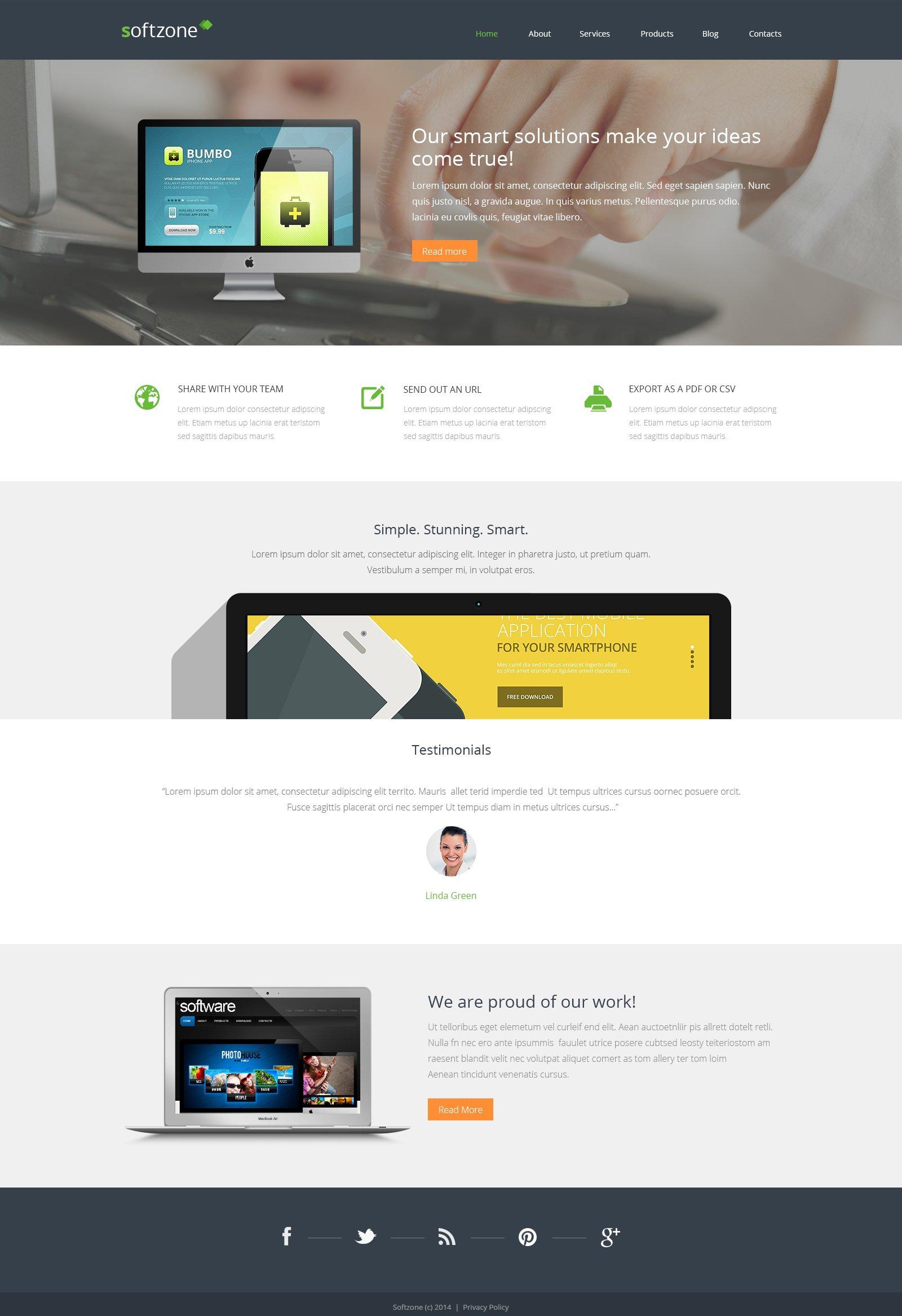 Reszponzív Webfejlesztési WordPress sablon 48831 - képernyőkép