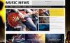 Reszponzív Zene portál  WordPress sablon New Screenshots BIG