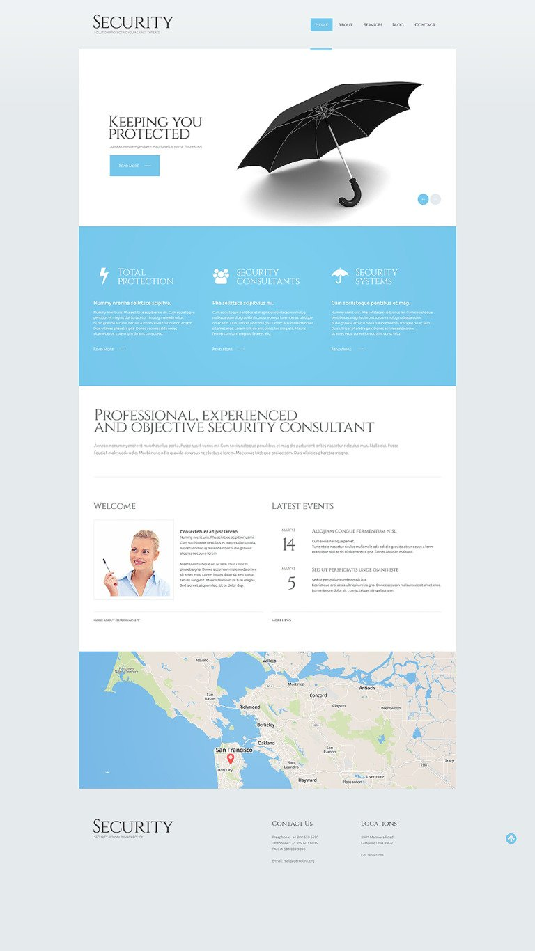 Security Responsive WordPress Theme New Screenshots BIG