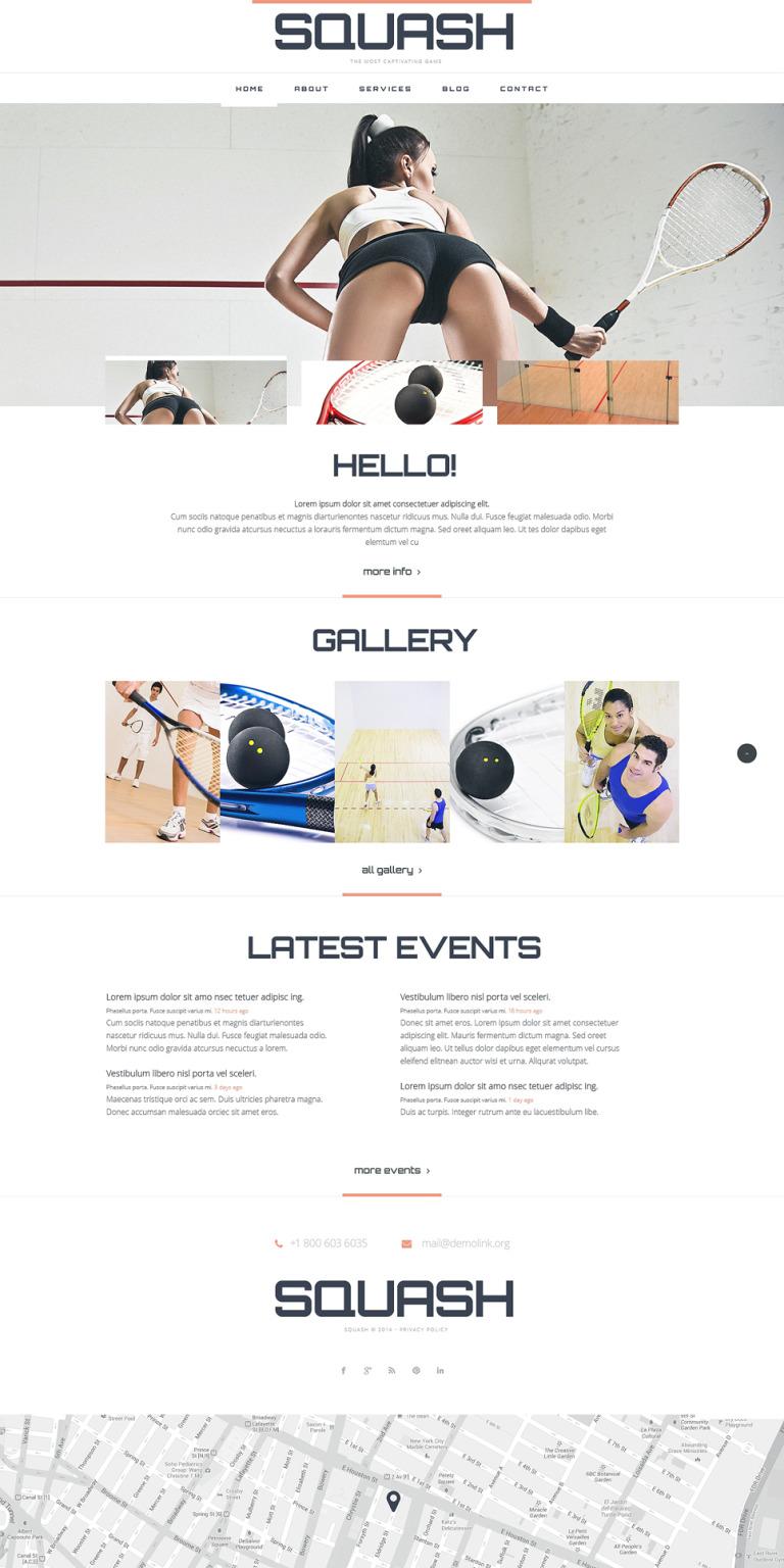 Squash Responsive Website Template New Screenshots BIG