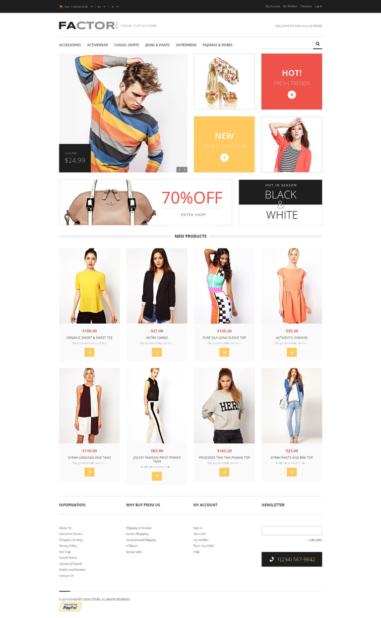 Style Factor Magento Theme New Screenshots BIG
