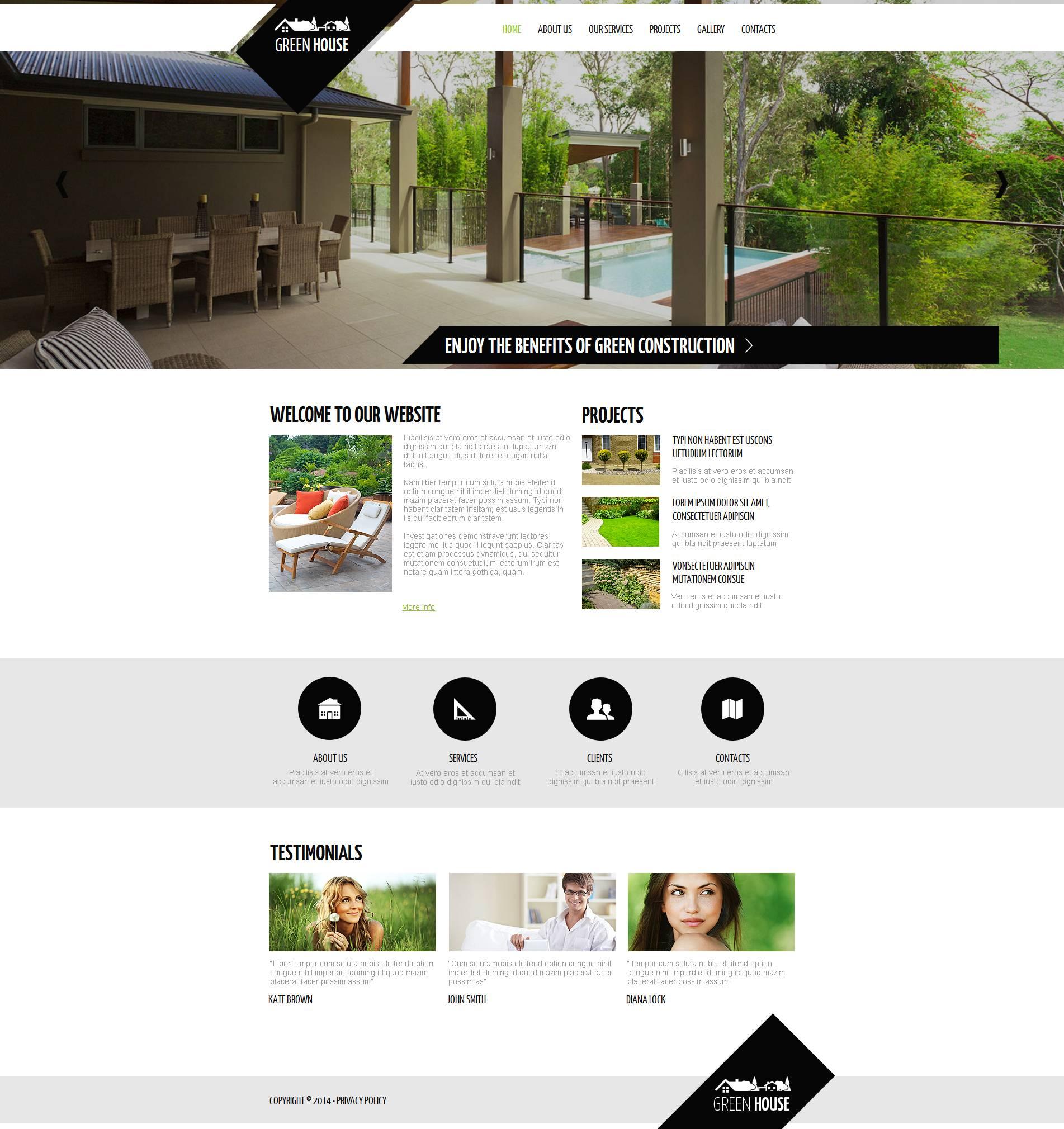 Szablon Moto CMS HTML #48866 na temat: architektura krajobrazu - zrzut ekranu