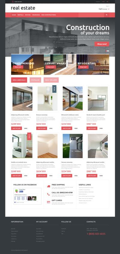 Responsive Tema De PrestaShop #48895 para Sitio de  para Sitio de Agencias inmobiliarias