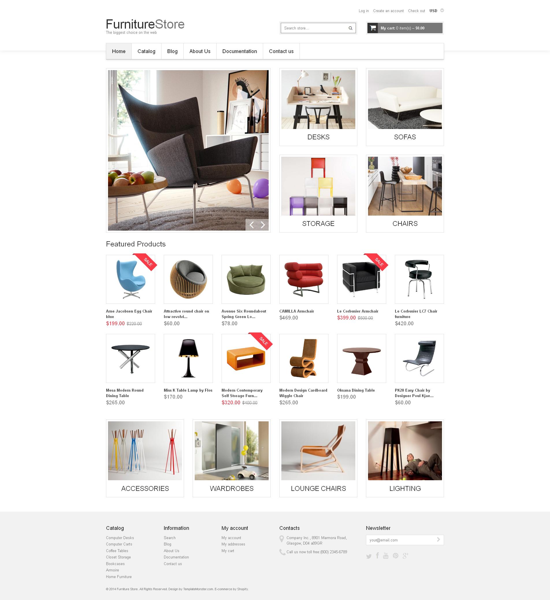 Tema de Shopify Flexível para Sites de Móveis №48825