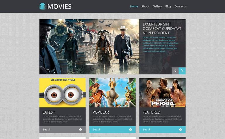 Tema de WordPress #48833 para Sitio de Cine