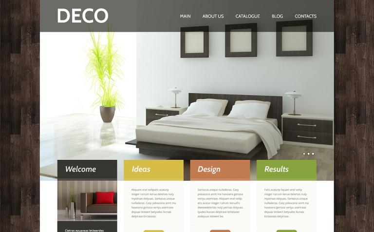 Tema de WordPress #48830 para Sitio de Diseño interior