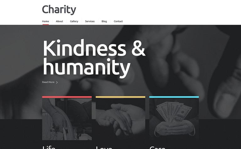 Tema de WordPress #48829 para Sitio de ONG