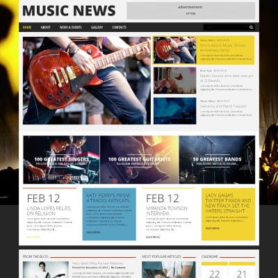 Tema de WordPress #22156 para Sitio de Bloges de música
